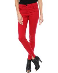 J Brand Sateen Skinny Jean with Ankle Zip - Lyst