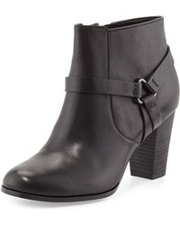 Cole Haan Calixta Leather Ankle Bootie - Lyst