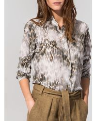 Maje Shirt - Cameleon Print - Lyst