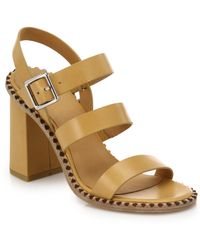 Marc By Marc Jacobs Triple-Strap Leather Sandals brown - Lyst