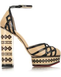 Charlotte Olympia Ay Caramba! Leather Pumps - Lyst