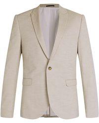 Topman Stone Oxford Skinny Fit Blazer - Lyst