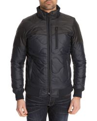 G-Star RAW Ryon Two-Tone Navy Thin Padded Jacket - Lyst