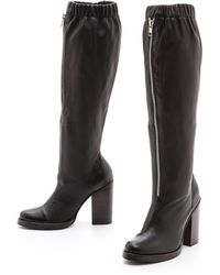 Opening Ceremony Lucie High Boots Black - Lyst