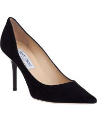 Jimmy Choo Agnes Pump Black Suede - Lyst