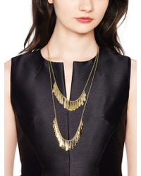 kate spade new york | Fancy Flock Double Row Necklace | Lyst
