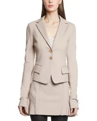 Patrizia Pepe Slim Fit Jacket with Glove Sleeves in Stretch Jersey Viscose - Lyst