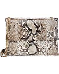 Lanvin Python Sugar Shoulder Bag - Lyst