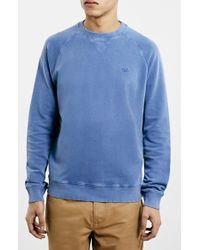 Topman 'Ltd Core Collection' Sweatshirt blue - Lyst