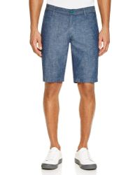 AG Green Label - Canyon Straight Fit Chambray Shorts - Lyst