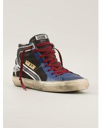 Golden Goose Deluxe Brand Blue Hitop Sneakers - Lyst