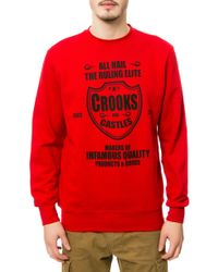 Crooks And Castles The Quality Makers Crewneck Sweatshirt - Lyst