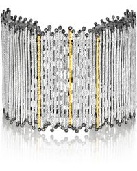 Coomi Spring Tricolor Cuff Bracelet With Diamonds