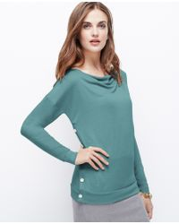 Ann Taylor Side Button Sweater Jersey Top - Lyst