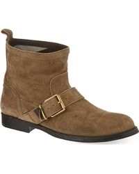 Burberry Sancreed Ankle Boots Beige - Lyst