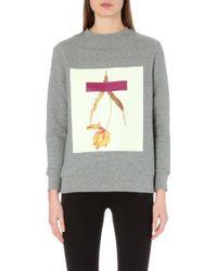 Self-Portrait - Fallen Tulip Jersey Sweatshirt - Lyst
