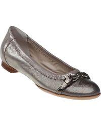 Attilio Giusti Leombruni D558034 Ballet Flat Pebble Taupe Leather - Lyst