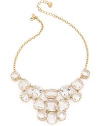 Kate Spade Vegas Jewels Statement Necklace - Clear - Lyst