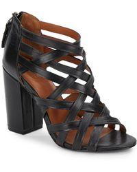 Ash Excelsior Leather Sandals black - Lyst