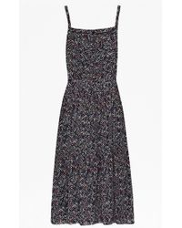 French Connection Confetti Grid Strappy Dress - Lyst