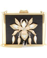 Roberto Cavalli Embellished Leather Box Clutch - Lyst