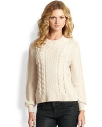 Joie Greer Cable-Knit Wool Sweater - Lyst