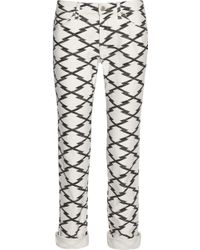 Etoile Isabel Marant Nelly Printed Mid-Rise Slim Boyfriend Jeans - Lyst