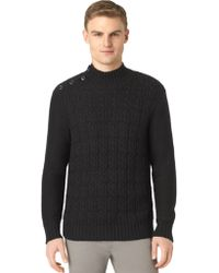 Calvin Klein Braided Cable Knit Pullover - Lyst