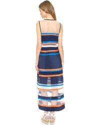 Emma Cook - Ribbon Stripe Maxi Dress - White/Navy - Lyst