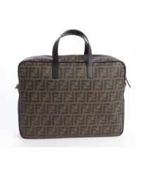 Fendi Brown and Tobacco Ombre Coated Canvas Zucca Messenger Bag - Lyst