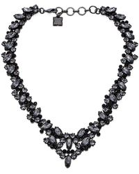 BCBGMAXAZRIA Scattered Stone Necklace - Lyst