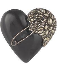 Alexis Bittar Pyrite Punk Pin Heart black - Lyst