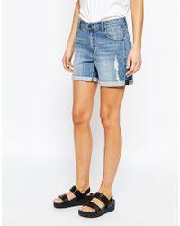 SELECTED - Mia Distressed Mini Shorts - Lyst