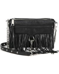 Rebecca Minkoff Mini Mac Fringed Convertible Crossbody Bag - Lyst