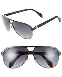 Alexander McQueen 62Mm Aviator Sunglasses - Lyst
