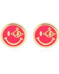 Vivienne Westwood Smiley Earrings - Lyst