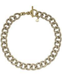 Michael Kors Pavé Chain-Link Necklace - Lyst
