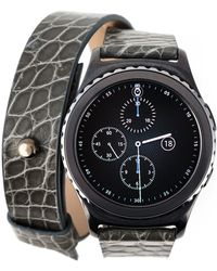 "Samsung - Double Grey ""gear S2"" Smartwatch - Lyst"
