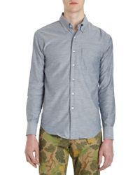 Naked & Famous Regular Shirt - Blue Chambray - Lyst