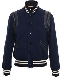 Saint Laurent Virgin Wool Teddy Jacket - Lyst