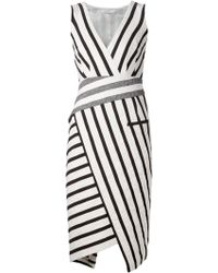 Altuzarra Striped Asymmetric Dress - Lyst