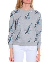 Carven Surfer Sweatshirt gray - Lyst