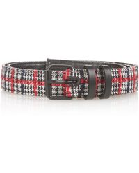 Haider Ackermann - Tweed And Leather Belt - Lyst