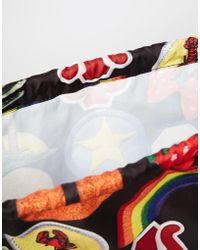 Jaded London - Drawstring Backpack In Novelty Print - Lyst