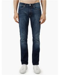 Acne Studios Men'S Washed Max Prince Slim-Fit Jeans blue - Lyst