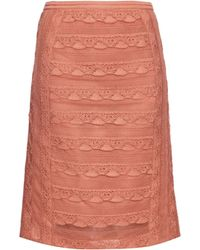 Burberry Prorsum | Tiered Lace Pencil Skirt | Lyst