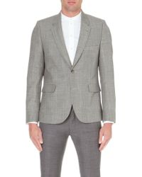 Paul Smith Prince Of Wales Check Mohair and Wool-blend Jacket - Lyst