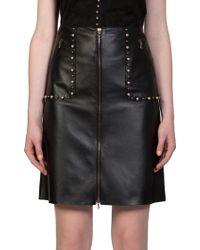 Lanvin Embellished Leather Pencil Skirt - Lyst