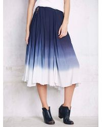 Free People Womens Full Of Love Convertible Skirt blue - Lyst