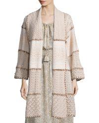 Calypso St. Barth - Dinaria Cashmere Jacket W/contrast Stitching - Lyst